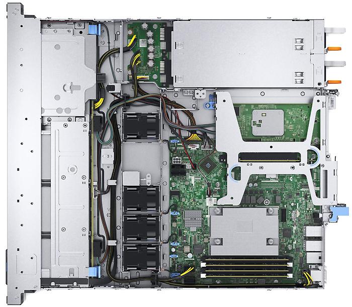 Dell PowerEdge R340 вид внутри
