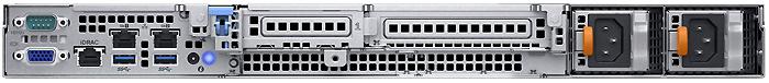 Dell PowerEdge R340 вид сзади